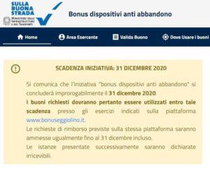 Il bonus seggiolino scade il 31 dicembre 2020